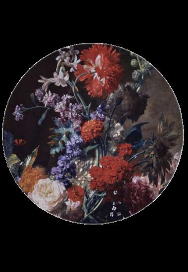 aster-bouquet-rug-round